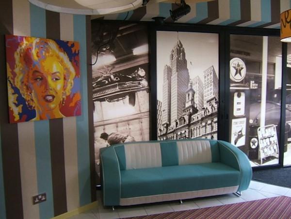 Diner Turquoise Sofa