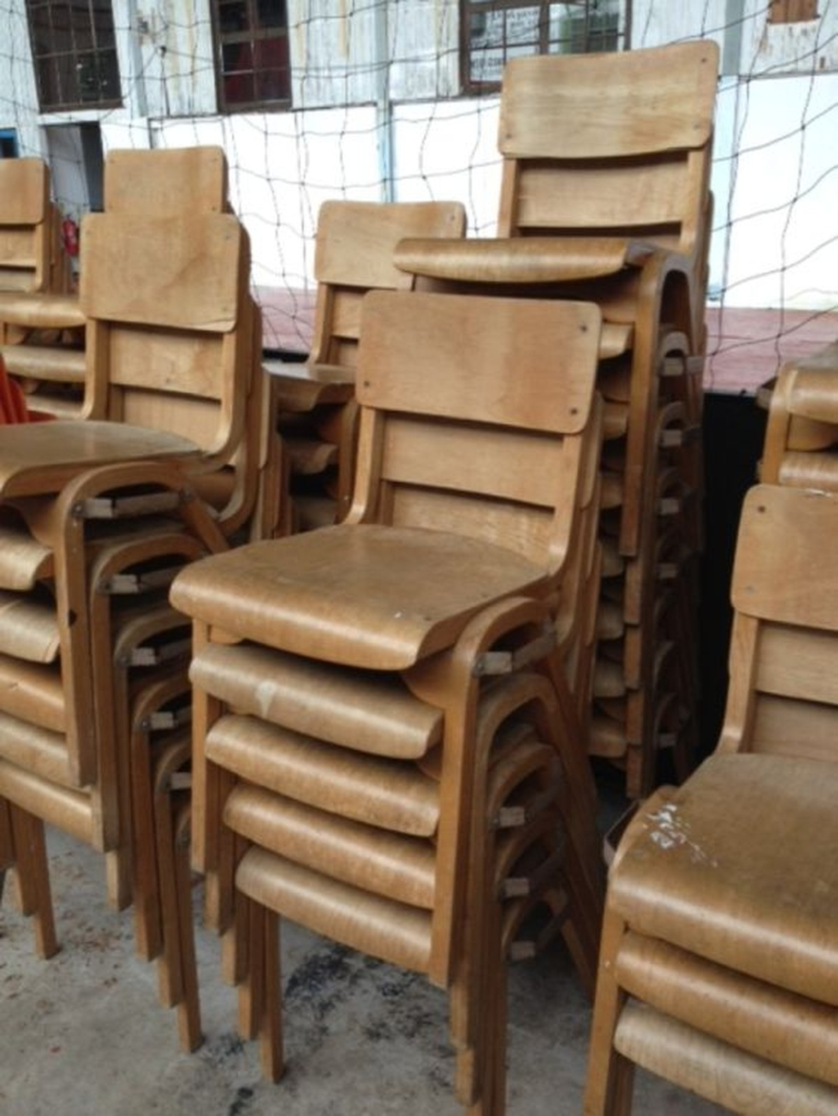 vintage 70s furniture. 91x Wooden Chairs Vintage 70s Furniture