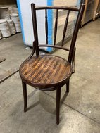 Wooden Bistro Chairs with Round Seat