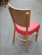 Secondhand chairs with red seat