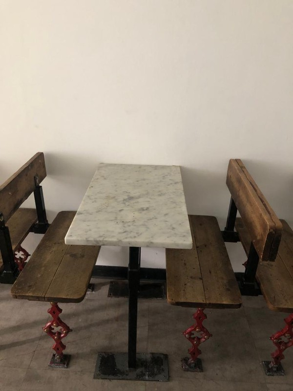 Iron Leg Tables and Chairs