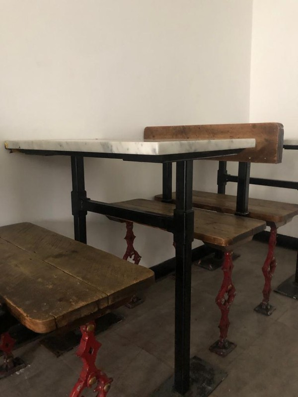 Retro Table & Bench Set