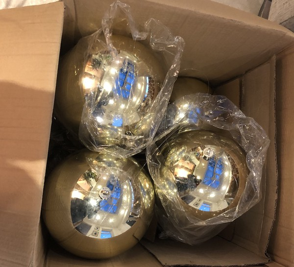 Giant Gold Christmas Bauble Decorations
