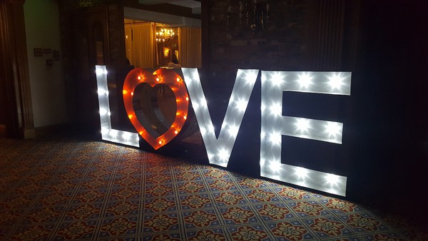 Wedding Valentines Illuminated Letters Love