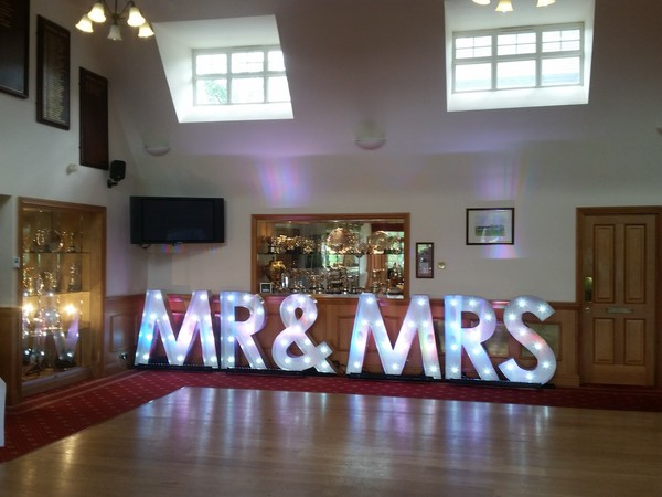 Mr and Mrs Illuminated Letters