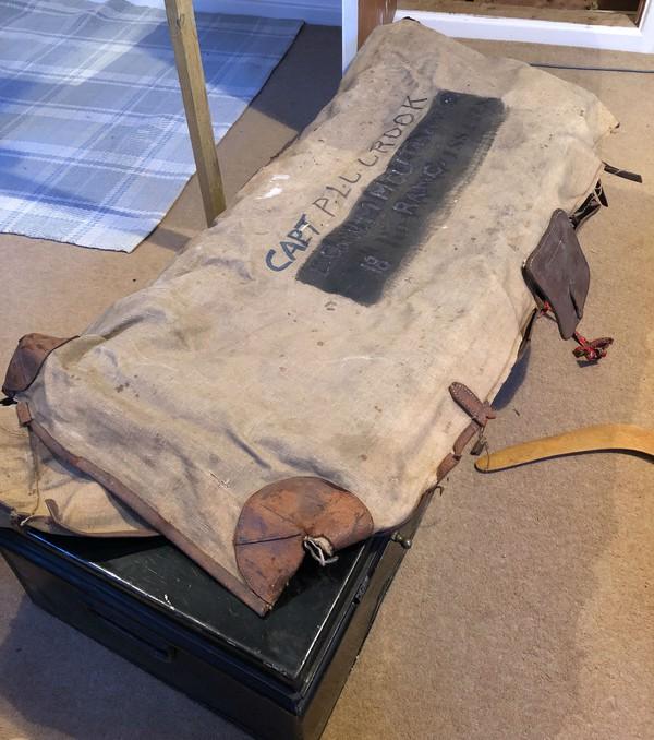 Vintage Tin uniform trunk