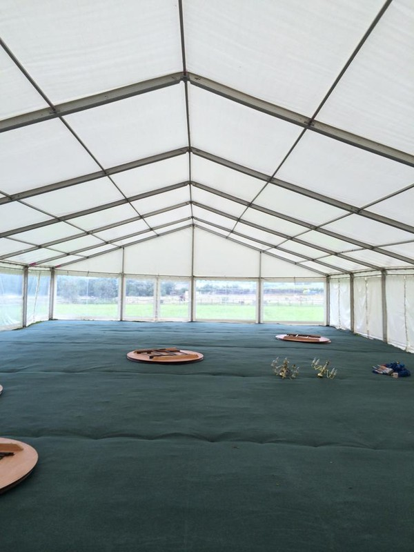 Clear span marquee hire business for sale