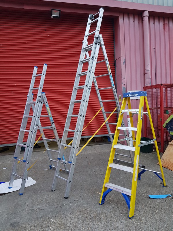 Zarges Skymaster 3 way step ladders