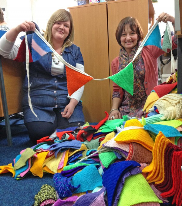 AgeUK Knitted bunting
