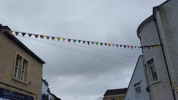 Bunting across a road