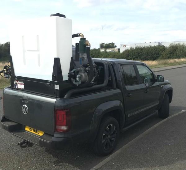 Pickup with Vacuum tank