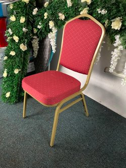 Red Banqueting Chairs Shield Back