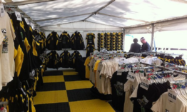 Race merchandising stall for sale