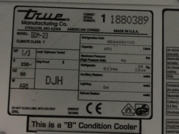 True GDM-23 Fridge