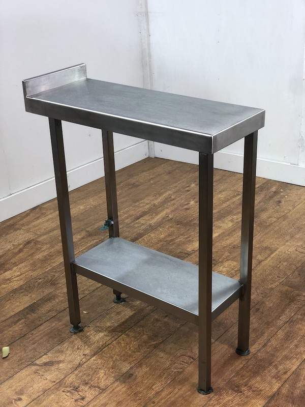 Stainless Steel Wall Table With Undershelf