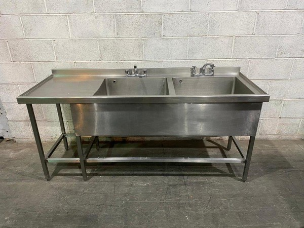 Deep double sink for sale
