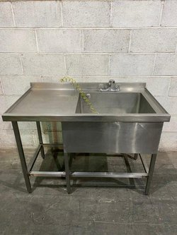 Deep single commercial sink