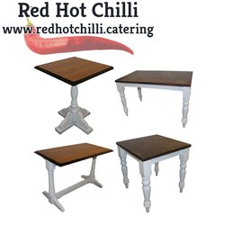 Tables with White Legs Mixed Style