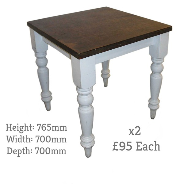 Shabby Chic Tables with Turned White Legs
