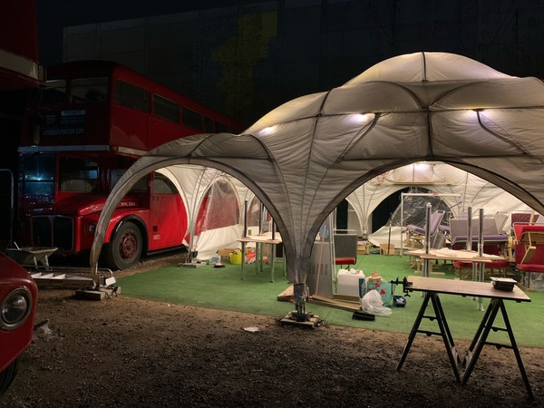 9m x 9m Party dome marquee