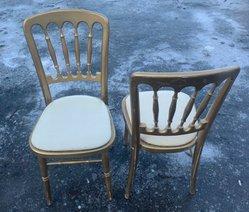 Gold / Gilt Cheltenham chairs for sale