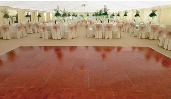 Parquet dance floor - made by Grumpy Joe's