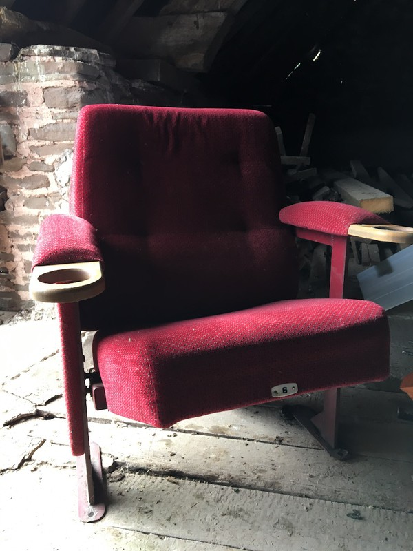 Red Velour Cinema Seats with Drink Holders