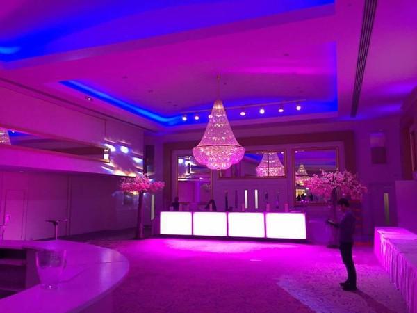 Ball room with mobile LED bar