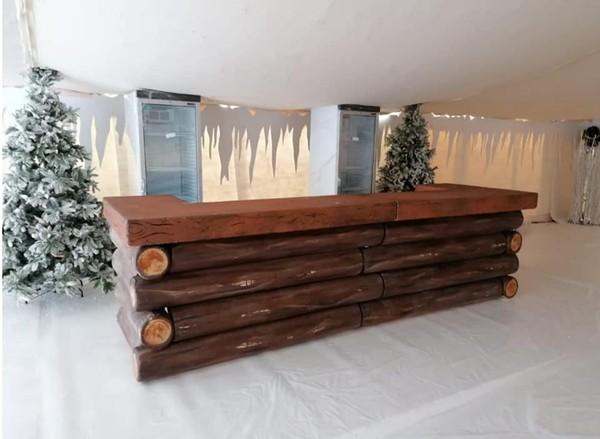 Log cabin style bar