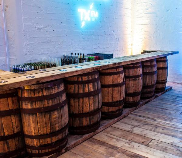 Whisky barrel bar