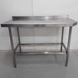 150cm x 60cm stainless steel table