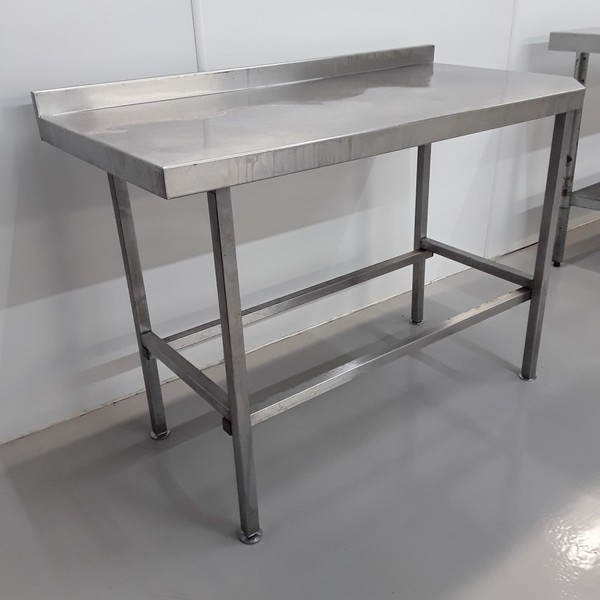 1500mm x 600mm secondhand stainless steel table