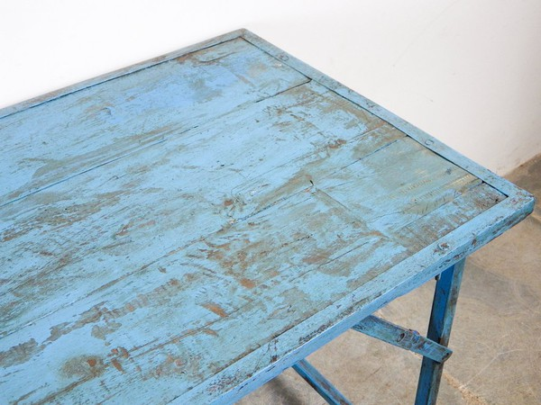 Shabby Chic Blue Folding Trestle Tables