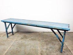 Vintage Blue Folding Benches