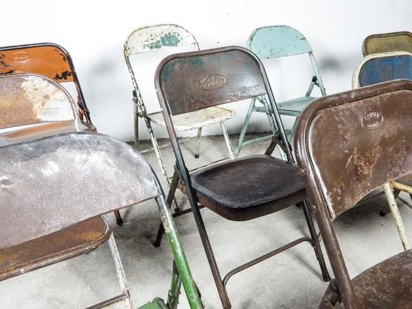 Retro Metal Folding Chairs
