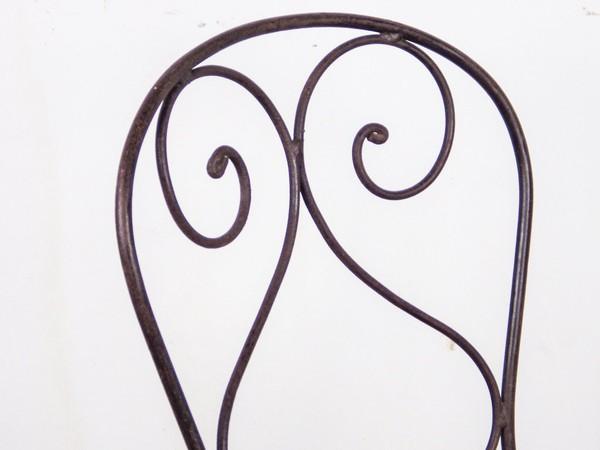 iron chair detail