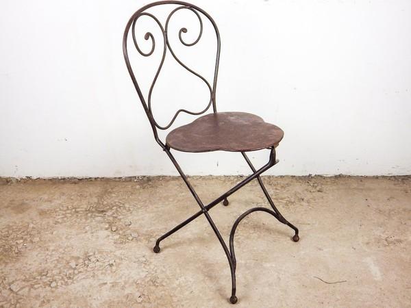 Vintage Iron Folding Garden Chairs