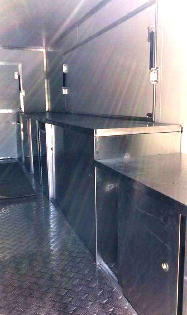 Stainless steel work cupboards