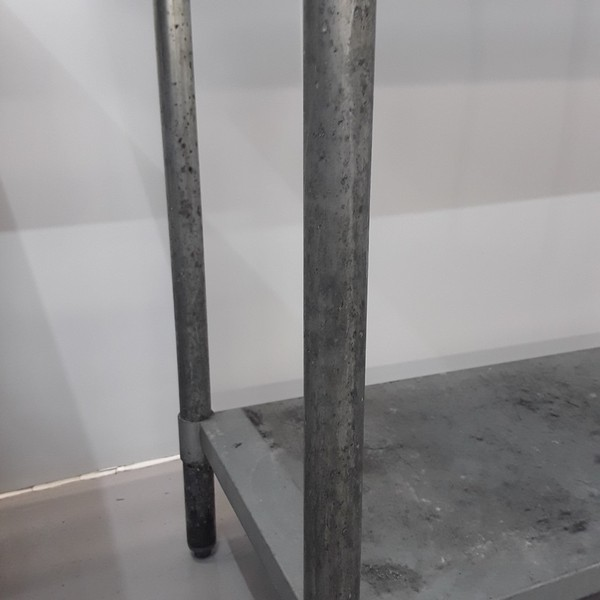 1220mm x 610mm used stainless steel table