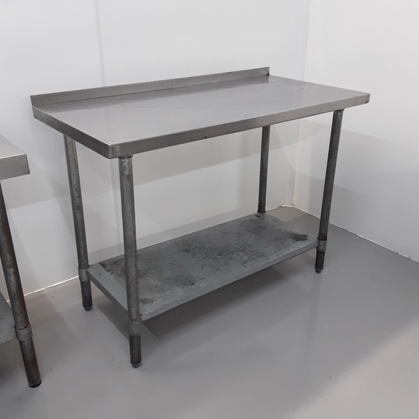 122cm x 61cm stainless steel table