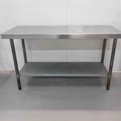 1.65m x 0.65m stainless steel table