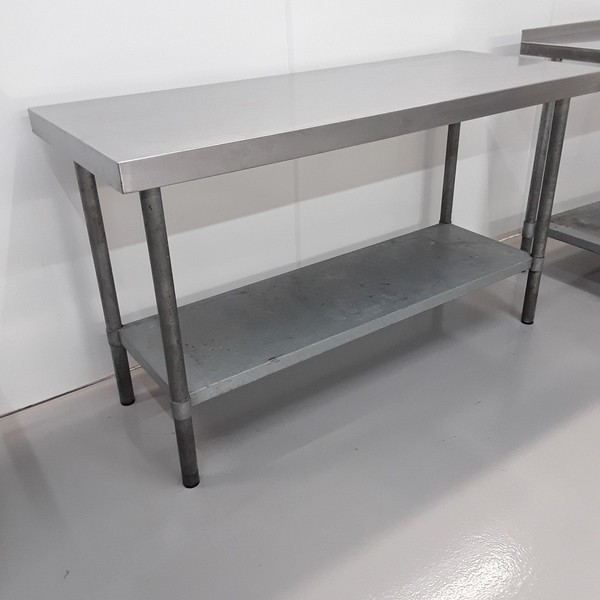 165cm x 65cm kitchen table stainless steel
