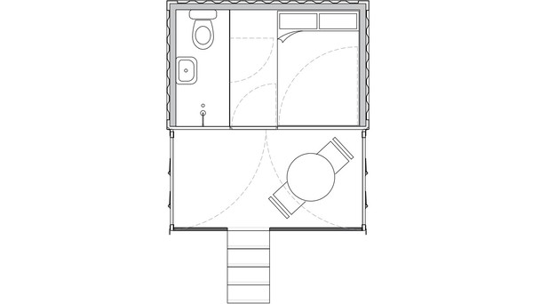 20ft container glamping pod plan
