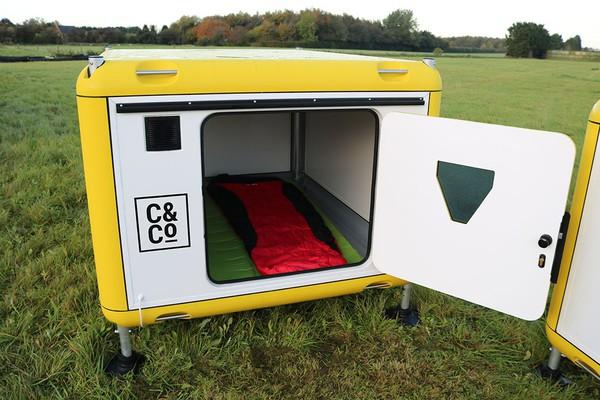 Relocatable camping pod
