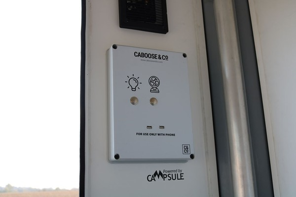 USB charging, Lighting and ventilation