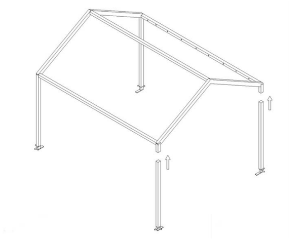 4.5m x 3m Tectonics framed marquee
