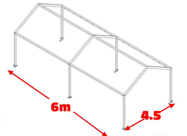 Two bays of 4.5m Tectonics marquee
