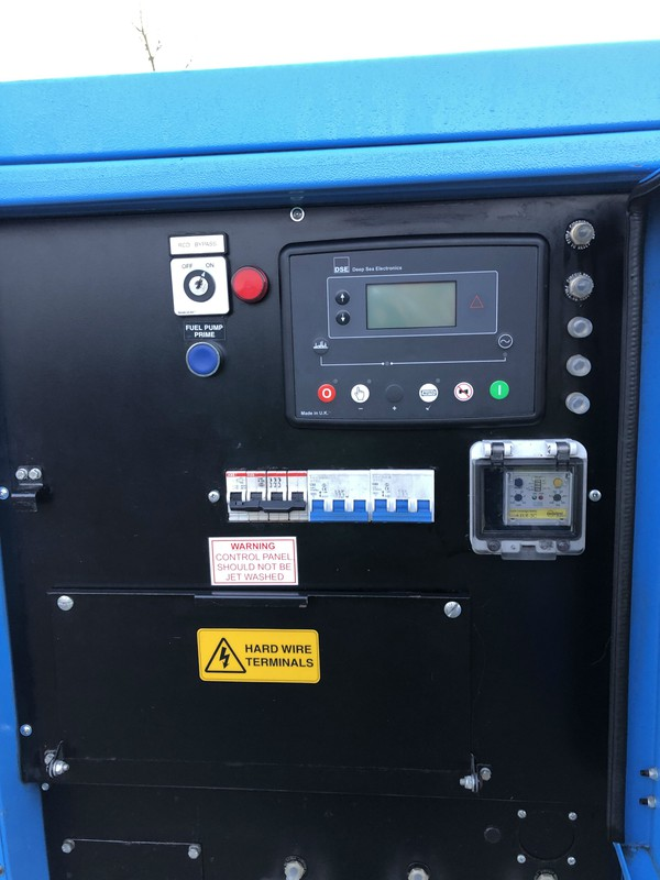 Fuse board and hour meter