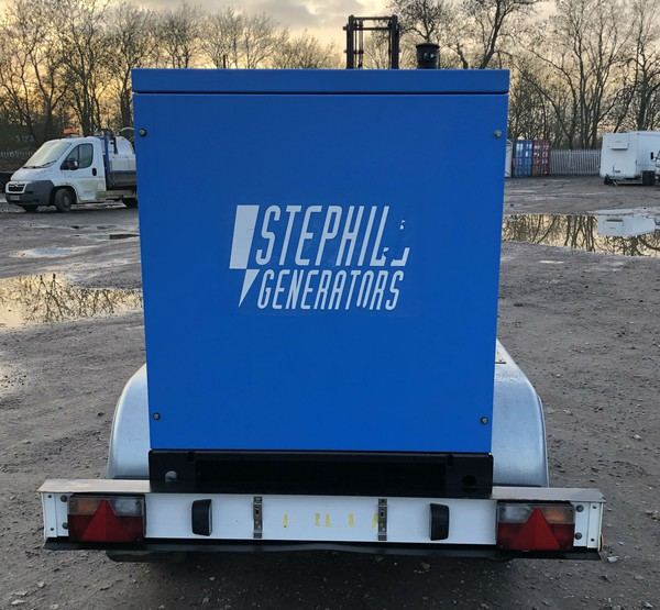 Trailer mounted generator for sale