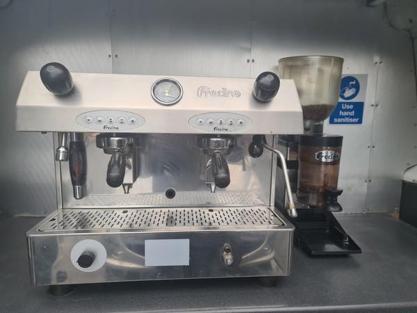Espresso machine Catering van